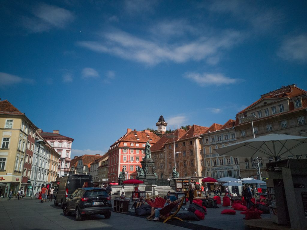 the main square in Graz