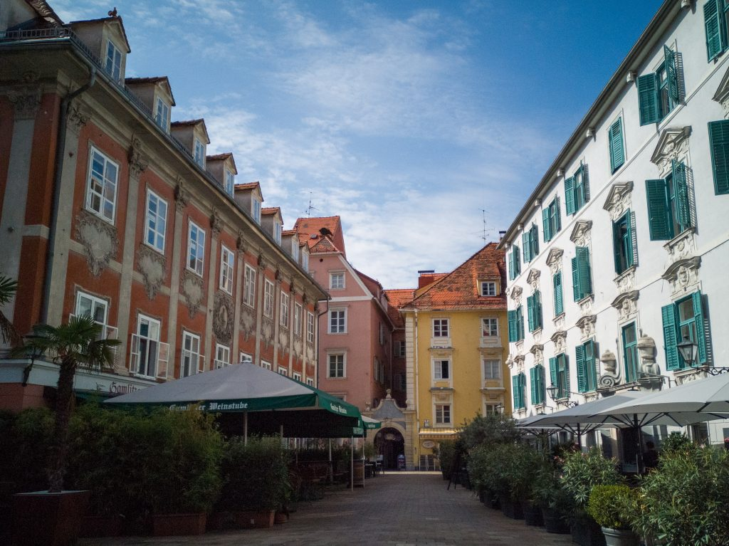 the city centre of Graz