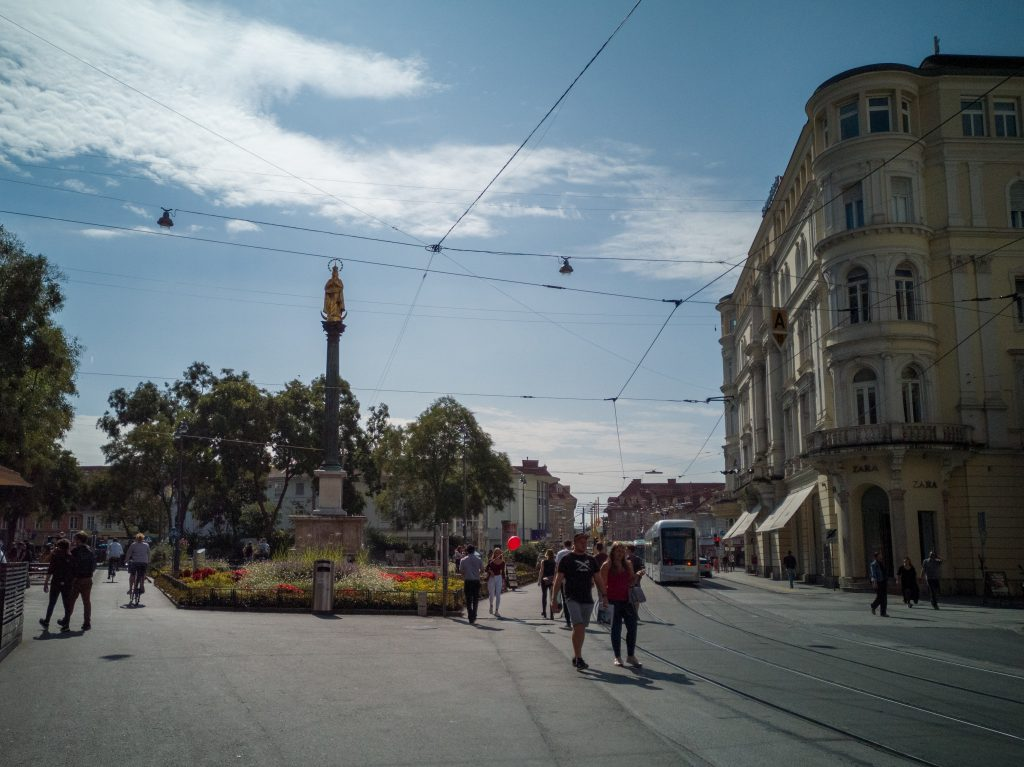 the Eisernen Tor square in Graz