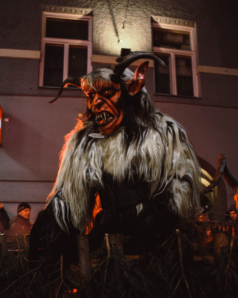 a Krampus at the Krampuslauf