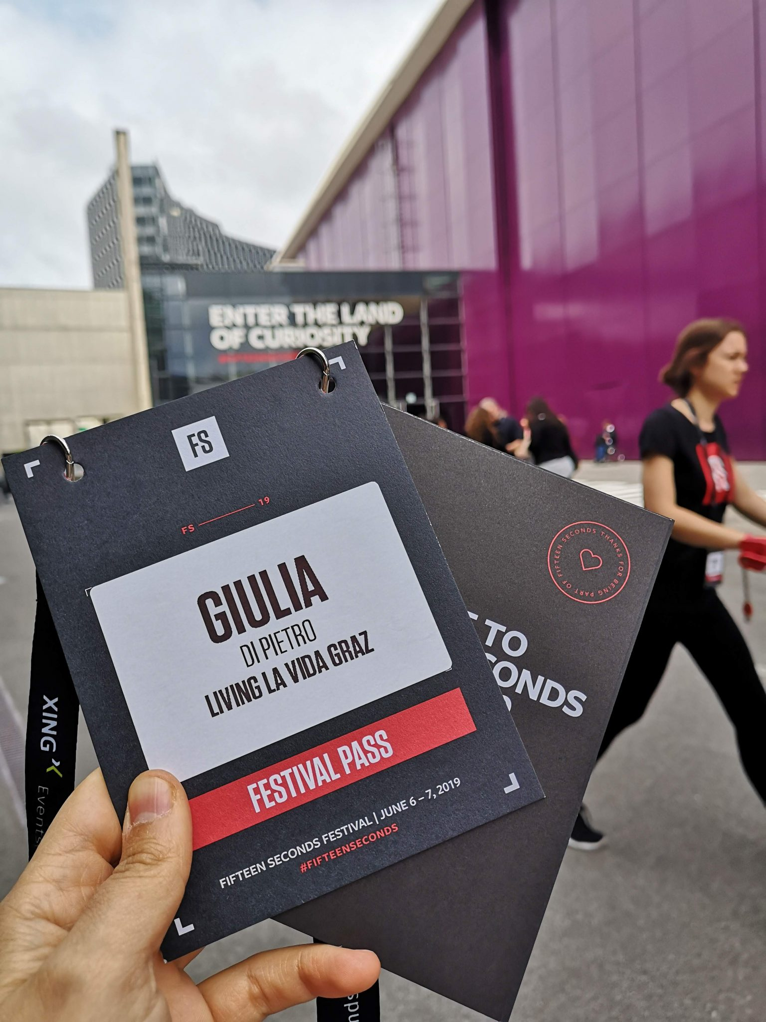 press pass to the fifteen seconds festival in Graz