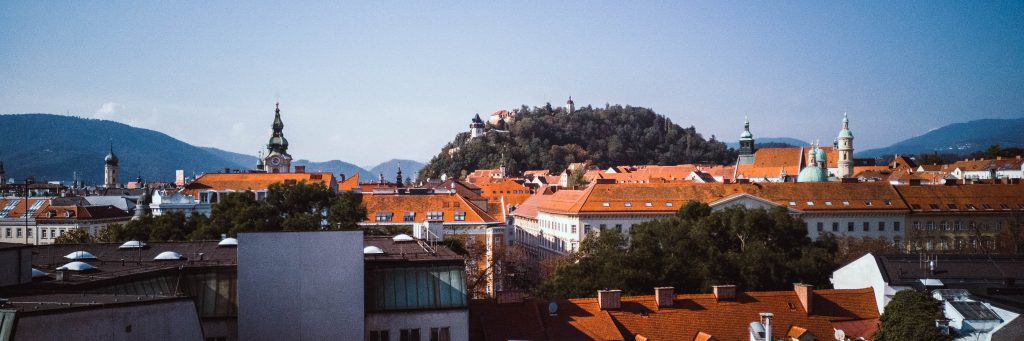 a panoramic view of Graz
