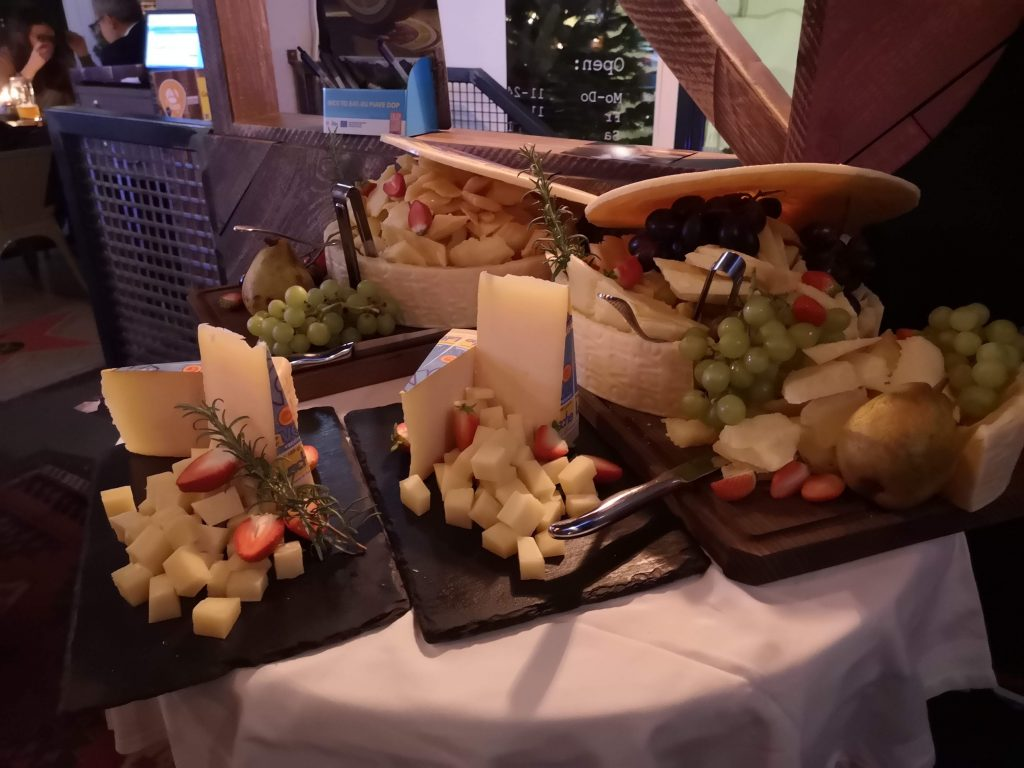 The cheese selection at Piave DOP tasting