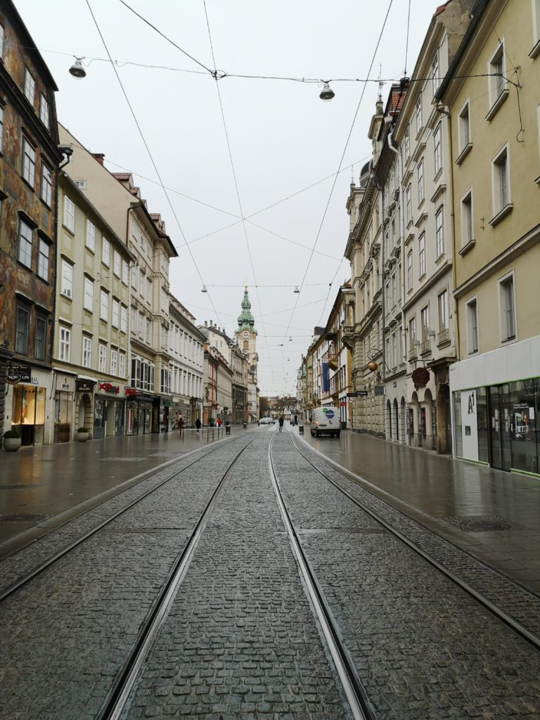 Herrengasse in Graz during the Covid-19 Pandemic